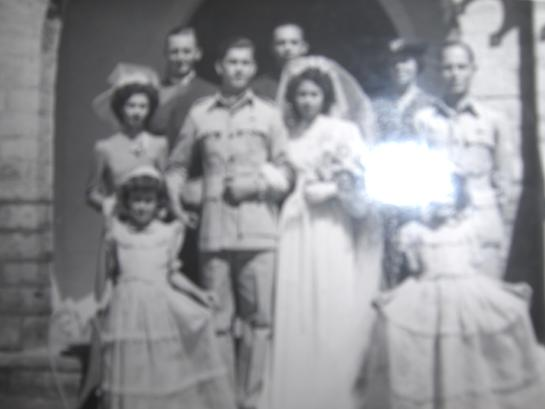 WWII Burma British Army  Burma Intelligence Corps, 1942-46 Wedding of Sgt. Donald Carter Mellican to Dorothy Milner, Simla India
